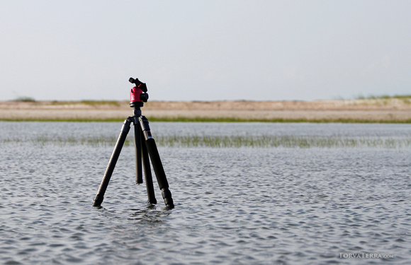 My Horus Bennu tripod in the field. It spends many days in salt water and sand.